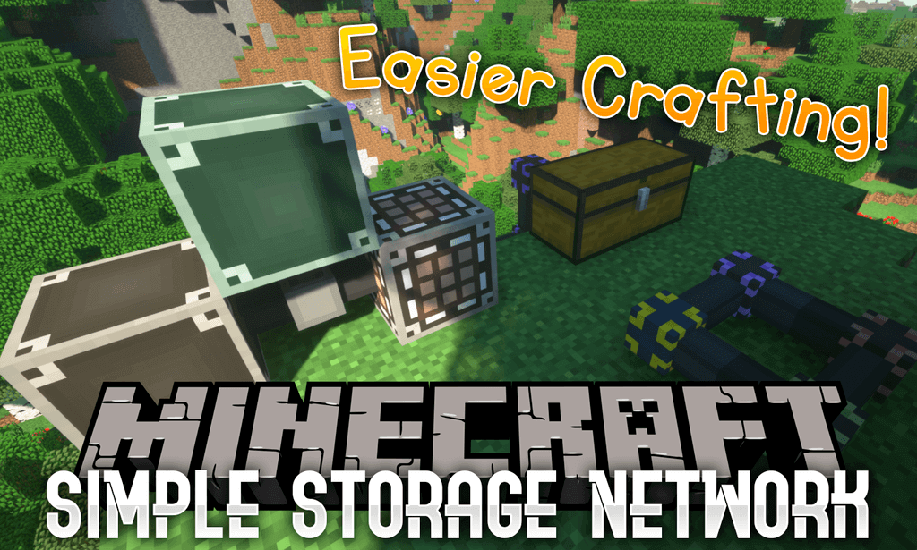 我的世界简单存储(Simple Storage Network)MOD